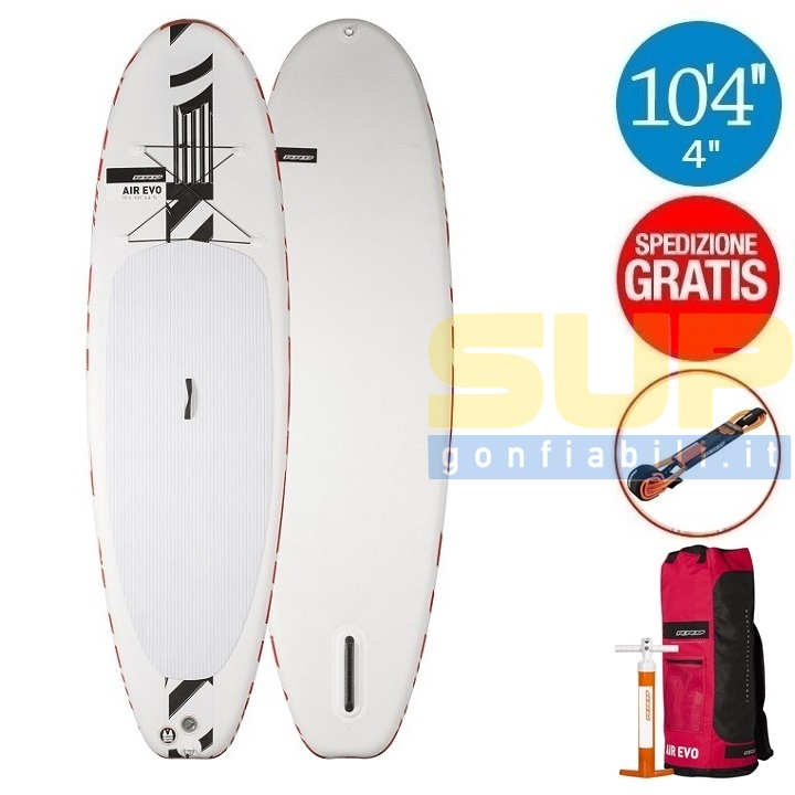"""RRD AIREVO 10'4""""x34""""x4 3/4"""" gonfiabile stand up paddle"""