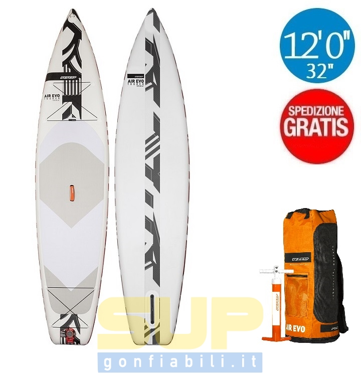 """RRD AIREVO TOURER 12'0""""x32"""" gonfiabile stand up paddle"""