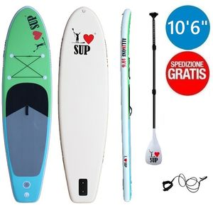 "I LOVE FITNESS 10'0"" sup gonfiabile stand up paddle"