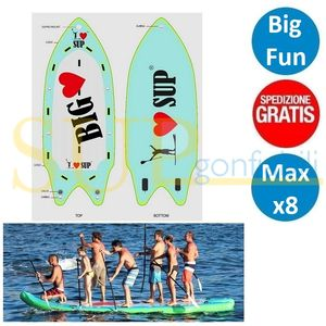 "I LOVE BIG 17'0"" sup gonfiabile stand up paddle"