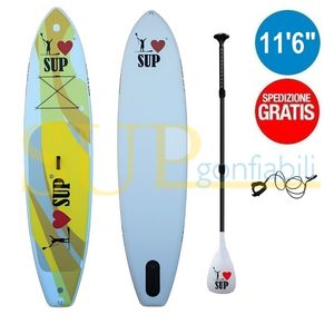 "I LOVE RELAX 11'6"" sup gonfiabile stand up paddle"