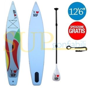 "I LOVE TOURING 12'6"" sup gonfiabile stand up paddle"